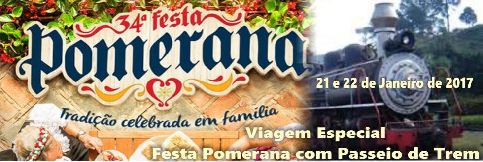 EXCURSÃO FESTA POMERANA, COM PASSEIO DE TREM EM ASCURRA E TIMBÓ.