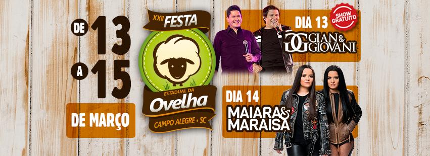 EXCURSÃO PARA FESTA DA OVELHA EM CAMPO ALEGRE SC + HOTEL PIAZITO PR.