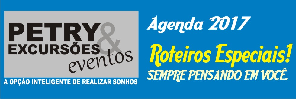 AGENDA  ROTEIROS ESPECIAIS 2017