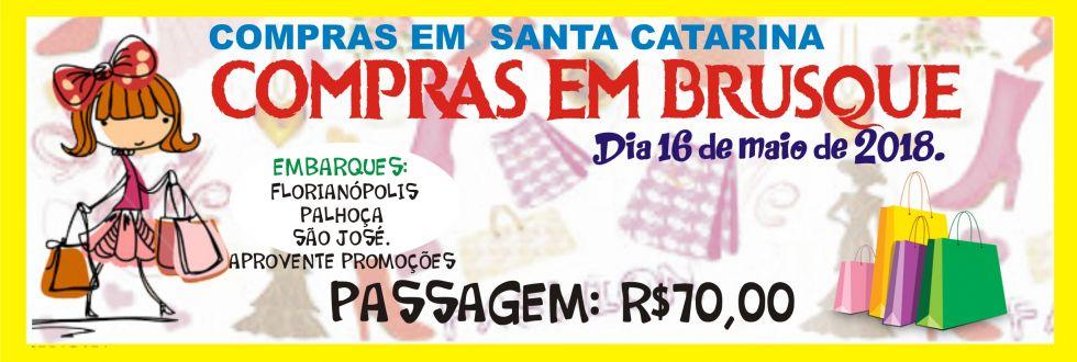 EXCURSÃO COMPRAS EM BRUSQUE.